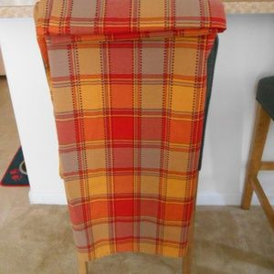 Fall Plaid Fabric Tablecloth Oblong 60x84